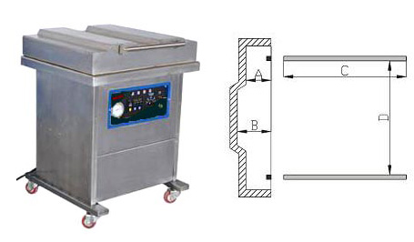 DZ600/2L单室真空包装机