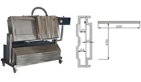 DZ600/2SX倾斜式真空包装机